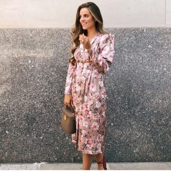 Gal Meets Glam Dresses & Skirts - NEW! Gal Meets Glam Carla Floral Button Down Dress